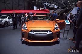 Front  of Nissan GT-R 3.8 V6 4x4 DCT, 570ps, 2017 at Geneva Motor Show 2017