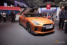 Front/Side  of Nissan GT-R 3.8 V6 4x4 DCT, 570ps, 2017 at Geneva Motor Show 2017