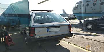 Back of Nissan Skyline Wagon 1.8 115ps, 1986 at Old Car Land no.1 2019