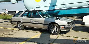 Front/Side  of Nissan Skyline Wagon 1.8 115ps, 1986 at Old Car Land no.1 2019