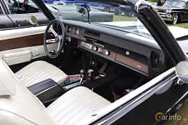 Interior of Oldsmobile 4-4-2 W-30 Convertible 7.5 V8 Hydra-Matic, 355ps, 1971 at Hässleholm Power Start of Summer Meet 2016
