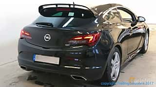 Back/Side of Opel Astra OPC 2.0 SIDI Turbo ecoFLEX  Manual, 280ps, 2013