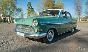 Front/Side  of Opel Kapitän 4-door Sedan 2.5 Manual, 75ps, 1957 at Lissma Classic Car 2019 vecka 20