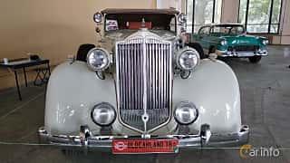 Front  of Packard Twelve 1508 Convertible Sedan 7.8 V12 Manual, 177ps, 1937 at Old Car Land no.2 2018