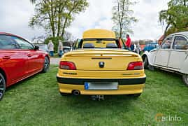 Back of Peugeot 306 Cabriolet 2.0 Manual, 132ps, 1997 at Fest För Franska Fordon  på Taxinge slott 2019