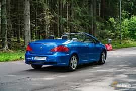 Back/Side of Peugeot 307 CC 2.0 Manual, 136ps, 2004 at Svenskt sportvagnsmeeting 2019