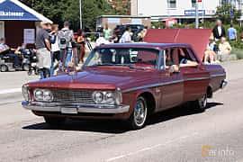 Front/Side  of Plymouth Belvedere 4-door Sedan 5.2 V8 PowerFlite, 233ps, 1963 at Cruising Lysekil 2019