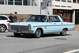 Front/Side  of Plymouth Fury I 4-door Sedan 5.2 V8 TorqueFlite, 233ps, 1965 at Cruising Lysekil 2019