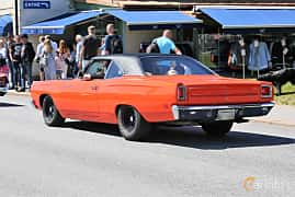 Back/Side of Plymouth Road Runner Coupé 6.3 V8 TorqueFlite, 340ps, 1969 at Cruising Lysekil 2019