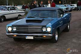 Front/Side  of Plymouth Road Runner Hardtop 6.3 V8 TorqueFlite, 340ps, 1969 at Kungälvs Kulturhistoriska Fordonsvänner  2019 Torsdag vecka 35