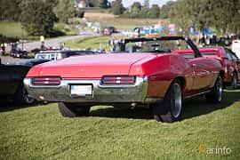 Bak/Sida av Pontiac GTO Convertible 6.6 V8 Automatic, 1969 på Bil & Mc-café vid Tykarpsgrottan v.33 (2017)