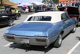 Back/Side of Pontiac GTO Convertible 6.6 V8 269ps, 1968 at Grensetreff Halden 2018