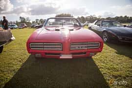 Fram av Pontiac GTO Convertible 6.6 V8 Automatic, 1969 på Bil & Mc-café vid Tykarpsgrottan v.33 (2017)