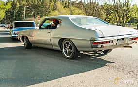Back/Side of Pontiac Luxury LeMans Hardtop Coupé 4.1 Manual, 147ps, 1972 at Wheelers Cruising, Vetlanda 2019