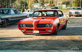 Front/Side  of Pontiac LeMans Sport Coupé 4.1 Hydra-Matic, 178ps, 1969 at Wheelers Cruising, Vetlanda 2019