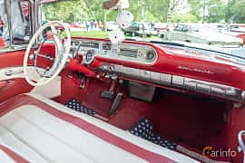 Interior of Pontiac Star Chief Convertible 5.7 V8 Hydra-Matic, 294ps, 1957 at Billesholms Veteranbilsträff 2019 augusti