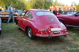 Back/Side of Porsche 356 1600 Coupé 1.6 Manual, 60ps, 1959 at Onsdagsträffar på Gammlia Umeå 2019 vecka 35
