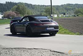 Back/Side of Porsche 911 4 GTS Cabriolet 3.8 H6 4 PDK, 430ps, 2015 at Tjolöholm Classic Motor 2017
