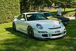 Front/Side  of Porsche 911 GT3 3.6 H6 Manual, 415ps, 2008 at Sportbilsklassiker Stockamöllan 2019