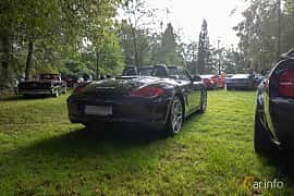 Back/Side of Porsche Boxster S 3.4 H6 Manual, 310ps, 2009 at Billesholms Veteranbilsträff 2019 augusti