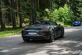 Back/Side of Porsche 718 Boxster 2.0 H4 PDK, 300ps, 2017 at Svenskt sportvagnsmeeting 2019