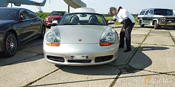 Front  of Porsche Boxster S  253ps, 2000 at Old Car Land no.1 2019