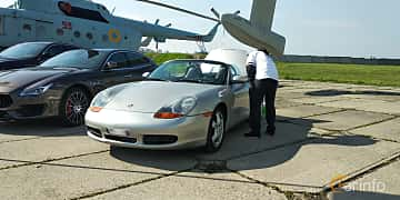 Front/Side  of Porsche Boxster S  253ps, 2000 at Old Car Land no.1 2019