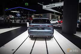 Back of Porsche Cayenne Turbo 4.0 V8 4 TipTronic S, 550ps, 2018 at IAA 2017