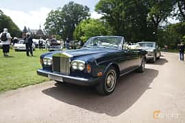 Front/Side  of Rolls-Royce Corniche Convertible 6.8 V8 Automatic, 200ps, 1975 at Sofiero Classic 2019