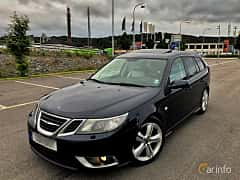 Front/Side  of Saab 9-3 SportCombi 1.9 TTiD Automatic, 180ps, 2009