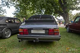 Back of Saab 900 3-door 2.0 Manual, 145ps, 1990 at Billesholms Veteranbilsträff 2019 augusti