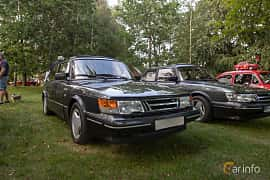 Front/Side  of Saab 900 3-door 2.0 Manual, 145ps, 1990 at Billesholms Veteranbilsträff 2019 augusti