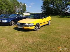 Front/Side  of Saab 900 Convertible 2.0 Turbo Automatic, 185ps, 1997 at Eddys bilträff Billesholm 2019 Tema Opel och Chevrolet