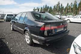 Back/Side of Saab 9000 CS 2.3 Turbo Manual, 170ps, 1995 at Tyskträffen 2017