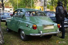 Back/Side of Saab 96 0.8 Manual, 40ps, 1965 at Onsdagsträffar på Gammlia Umeå 2019 vecka 35