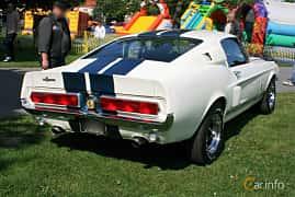 Back/Side of Shelby Cobra G.T.500 7.0 V8 340ps, 1968 at Hässleholm Power Start of Summer Meet 2016