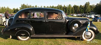 Side  of Hudson Custom Eight Touring Sedan 4.2 Manual, 123ps, 1937