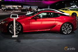Sida av Lexus LC 500 5.0 V8 Automatic, 477ps, 2019 på LA Motor Show 2018