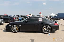 Side  of Porsche 911 Turbo 3.8 H6 4 500ps, 2010 at Proudrs Drag racing Poltava 2019