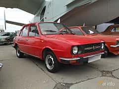 Front/Side  of Skoda 120 L 1.2 Manual, 50ps, 1976 at Old Car Land no.2 2017