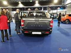 Back of SsangYong Musso 2.2 e-XDi 4WD Automatic, 181ps, 2018 at Warsawa Motorshow 2018