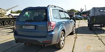 Back/Side of Subaru Forester 2008 at Old Car Land no.1 2019