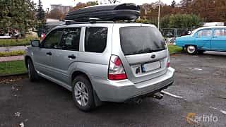 Back/Side of Subaru Forester 2006 at Old Car Land no.2 2018