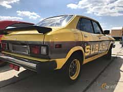 Back/Side of Subaru Leone 4-door Sedan 1977 at Old Car Land no.1 2018
