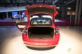 Bak av Tesla Model 3 Performance 75 kWh AWD Single Speed, 487ps, 2018 på Paris Motor Show 2018