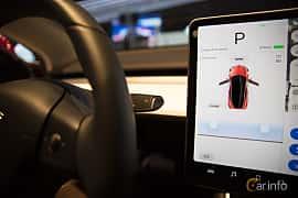 Närbild av Tesla Model 3 Performance 75 kWh AWD Single Speed, 487ps, 2018 på Paris Motor Show 2018