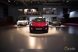 Fram av Tesla Model 3 Performance 75 kWh AWD Single Speed, 487ps, 2018 på Paris Motor Show 2018