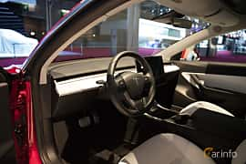 Interiör av Tesla Model 3 Performance 75 kWh AWD Single Speed, 487ps, 2018 på Paris Motor Show 2018