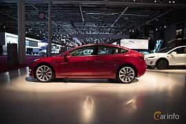 Sida av Tesla Model 3 Performance 75 kWh AWD Single Speed, 487ps, 2018 på Paris Motor Show 2018