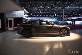 Sida av Tesla Model S 100D 100 kWh AWD Single Speed, 423ps, 2018 på Paris Motor Show 2018